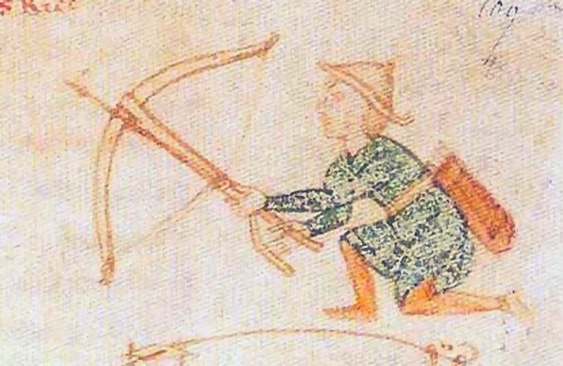 Armbr.m. Stegreif u. langem Abzug, 1194-96