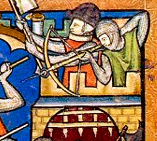 Armbr., ~1245-50, Maciejowski-Bibel.  1d