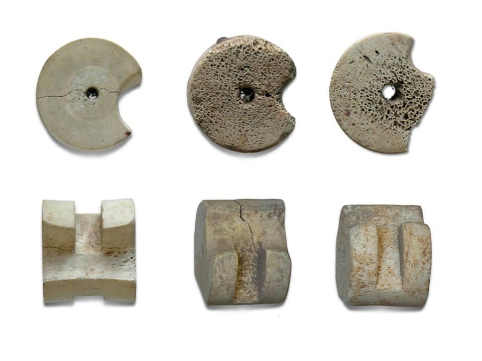 14th century bone crossbow nuts of Nasrid Emirate of Granada, Alhambra Museum, Spain 5
